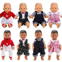 BARWA 4 Sets Doll Clothes Outfits Jumpsuits Pajamas Doll Clo