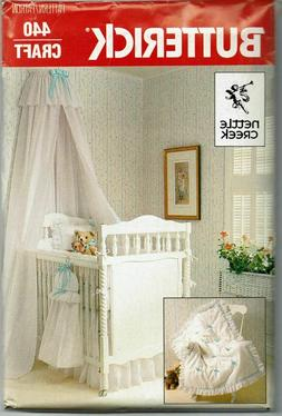 Butterick 4689 Baby Room Canopy Dust Ruffle Coverlet Crib Sh