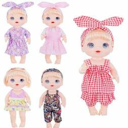 XADP 5 Pack Baby Doll Clothes Outfits with Hair Bands for 13