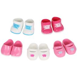 Huang Cheng Toys 5 Pairs of Shoes for 15-16 Inch Doll Boots