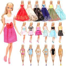 Barwa 5 PCS Fashion Mini Short Party Dresses Clothes + 5 Sho
