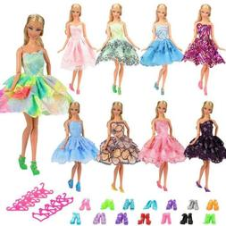BARWA 5 PCS Fashion Mini Short Party Dresses Doll Clothes 5