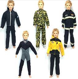 5 Set Winter Dress army combat Uniform jumpsuits Outfit for
