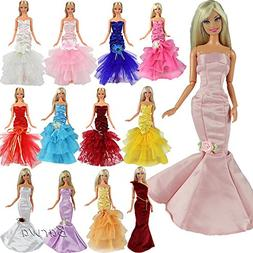 Barwa 5 Sets Evening Wedding Party Fishtail Mermaid Gown Dre
