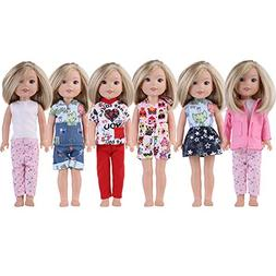 Anxi 5 Wellie Wishers Clothes Fit 14 inch Doll Include Dress