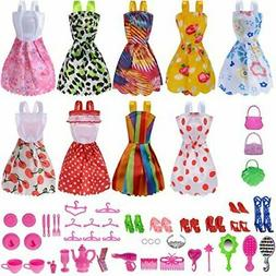 50 Doll Clothes Lot Party Gown Outfits And Accessories Barbi