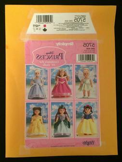Simplicity 5705 Sewing Pattern Disney Princess 18 Inch Doll