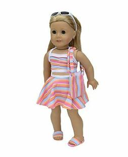 6 Piece Swimsuit Set Fits 18 Inch Doll Clothes