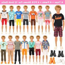 Barwa 6 KEN clothes + 3 pants + 3 dress + 4 KEN shoes + 5 Ba