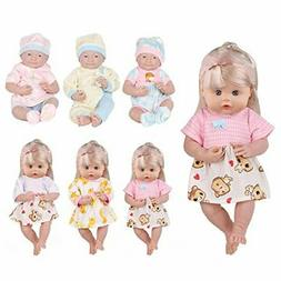 Huang Cheng Toys 6 PCS Alive Lovely Baby Doll Reborn Newborn