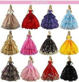 ZITA ELEMENT 6 Pcs Handmade Clothes Dress for 11.5 Inch Doll