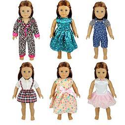 Barwa 6 Sets Causal Clothes Outfits Handmade Clothing Dress