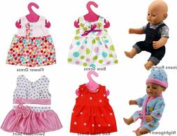 XADP 6 Sets Doll Clothes Outfits Dresses Clothing for 14 Inc