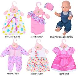 "ebuddy 6 Sets Doll Clothes Outfits for 14-16"" Baby Dolls& fo"