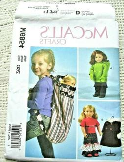 "6854 SEWING PATTERN~UNCUT~18"" AMERICAN GIRL DOLL CLOTHES&BAC"