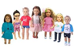 XADP 7 Complete Sets American Girl Doll Clothes Daily Casual