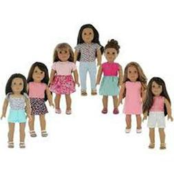 PZAS Toys 7 Outfit Set,18 Inch Doll Clothes,Compatible with