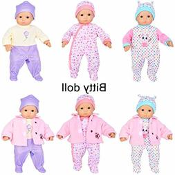 7 pcs doll clothes with hat