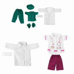 "Doll Doctor Nurse Clothing Clothes Outfit Set for 18""45cm Ou"