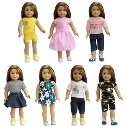 ZITA ELEMENT 7 Sets Doll Clothes & Dress for American 14-18