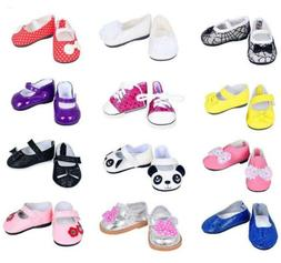 ebuddy 7pair Doll Shoes Random Diffrent Style for 18 inch