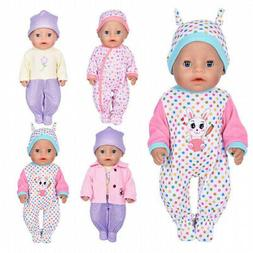 ebuddy 7pc Doll Clothes Include Bodysuit Hat a Coat 46cm Dol