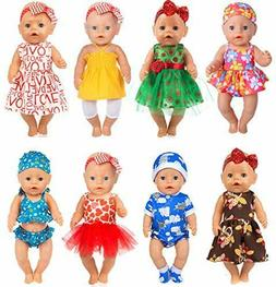 ebuddy 8 0utfits Doll Clothes Change Show, Fits for 43cm New