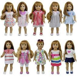8Sets Fashion Clothes Dress Princess Skirt For America 16-18