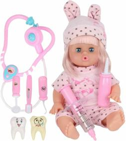 Huang Cheng Toys 9 Pcs 12 Inch Doll With Clothes Alive Lovel