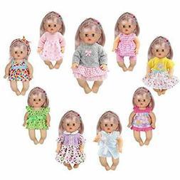 Huang Cheng Toys 9 PCS Baby Doll Alive Reborn Newborn Clothe