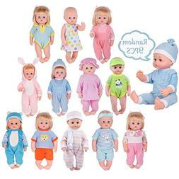 9 Sets for 14-15 Inch Alive America Doll Clothing Dress Baby