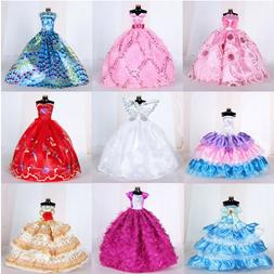 9Pcs Doll Wedding Party Dress Princess Clothes Handmade Outf