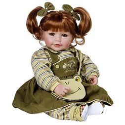 "Adora Toddler Froggy Fun Girl 20"" Girl Weighted Doll Gift Se"