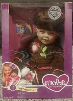 """Adora Toddler Workout Chic 20"""" Girl Weighted Doll Gift Set f"""