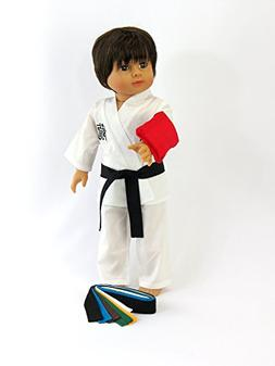 American Fashion World Kickin' Karate Outfit - 18 Inch Doll