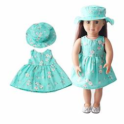 """American girl doll clothes accessories ,2018 summer 18"""" inch"""