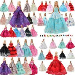 BARWA 15 Items 5 Pcs Fashion Wedding Party Dresses Clothes w