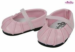 Baby Doll Shoes, Fits Bitty Baby by American Girl, Pink Ball