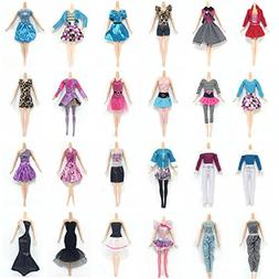 Clothes for Barbie Doll, Lance Home 10 Sets Dresses 10 Pairs