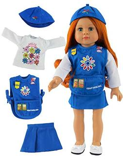 "Daisy Girl Scout Outfit | Fits 18"" American Girl Dolls Made"