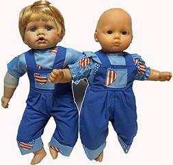 Doll Clothes For Boy And Girl Twins American Print