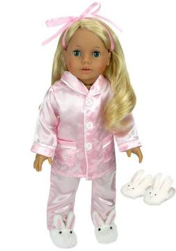 Doll Clothing for 18 Inch Dolls, 3 Pc. PJ's Set Fits America