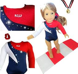 Doll Connections USA Gymnastics Outfit Compatible with Ameri