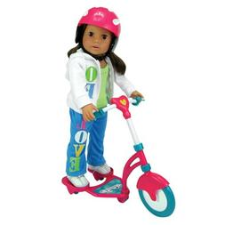 Doll Scooter & Helmet Set Made by Sophia's, 18 Inch Dolls Ac