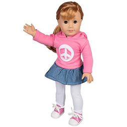 Dress Along Dolly Peace Doll Outfit for American Girl Dolls