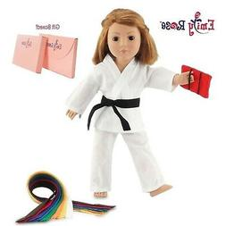 "Fits 18"" American Girl Doll Karate Outfit - 18 Inch Doll Clo"
