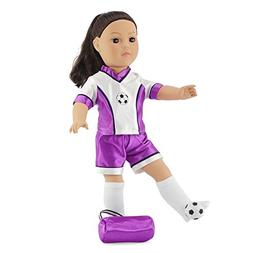 "Fits American Girl Dolls 18"" Varsity Soccer Uniform | 18 Inc"