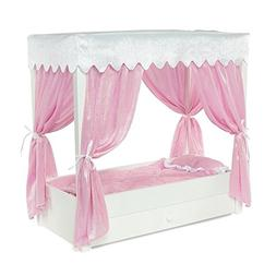 """For American Girl Doll Canopy Bed & Trundle Storage - 18"""" In"""