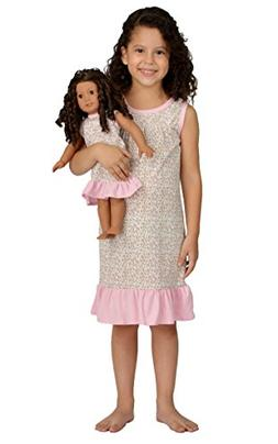 Girl and Doll Matching Outfit Clothes - Pajama Nightgown Set