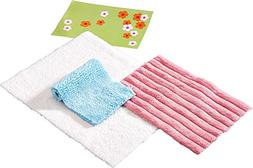HABA Little Friends Set of 4 Assorted Rugs - Dollhouse Acces